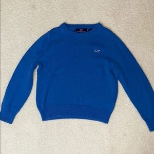 Boys bright blue vineyard vine sweater size 6